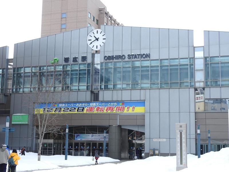 冬の帯広駅