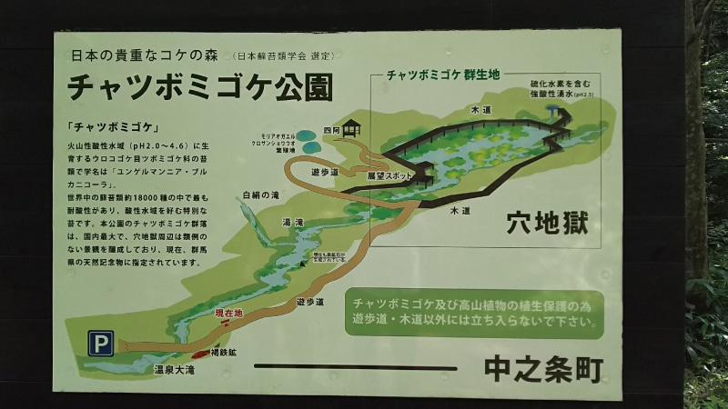 チャツボミゴケ公園看板