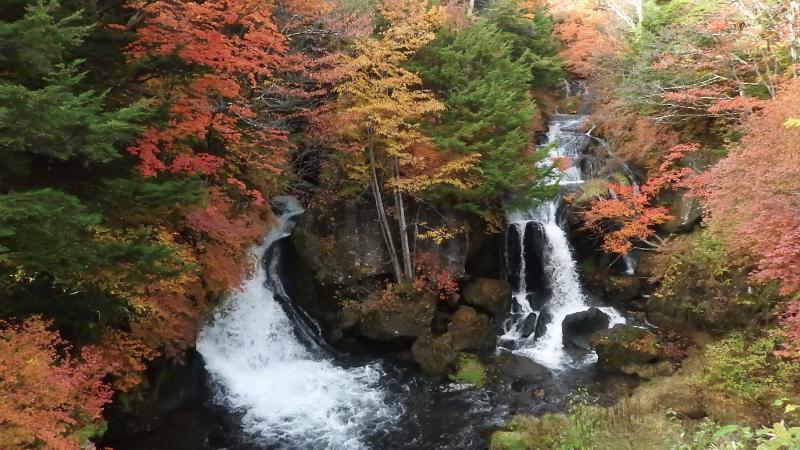 日光紅葉名所竜頭の滝