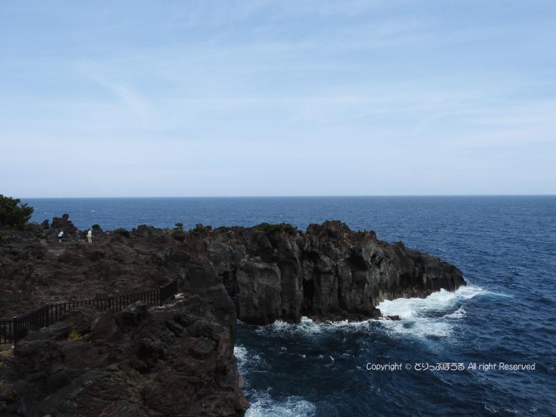 城ヶ崎海岸吊り橋からの眺め