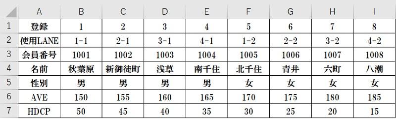リーグ対戦表データベース