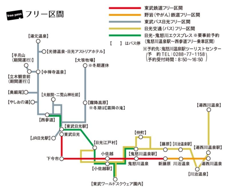 まるごと日光鬼怒川東武フリーパスエリア