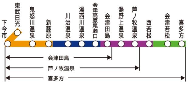 ゆったり会津東武フリーパスエリア