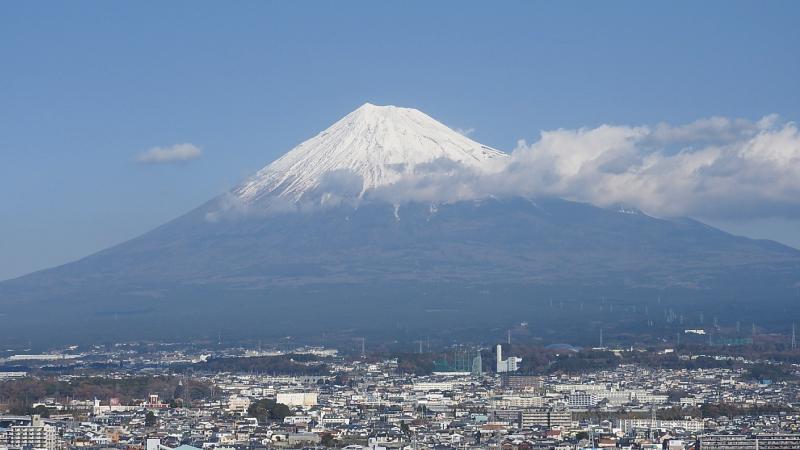 富士市役所屋上からの富士山