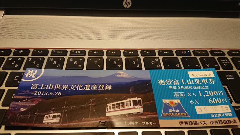 絶景富士山乗車券