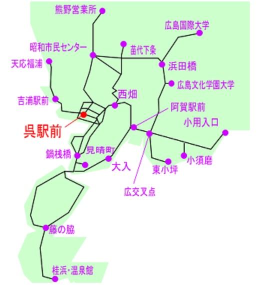 呉市内限定1日フリーきっぷ