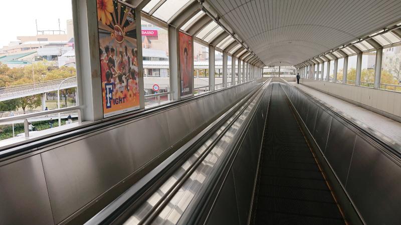 新井口駅動く歩道