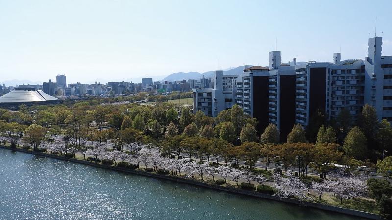 広島城天守閣眺望