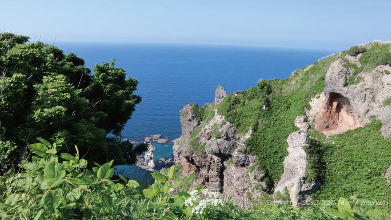 神威岬展望台広場付近