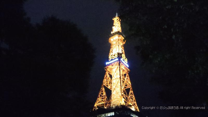札幌テレビ塔夜