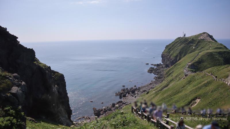 高低差のある神威岬遊歩道