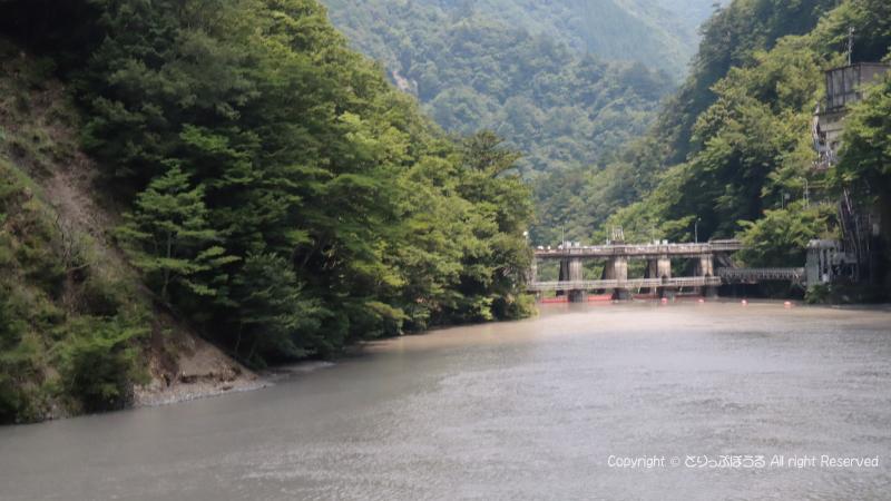 橋の上から右側