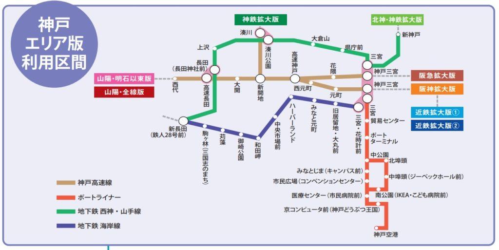 神戸街めぐり1dayクーポン神戸フリーエリア