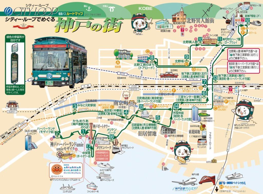 神戸シティーループバスフリーエリア