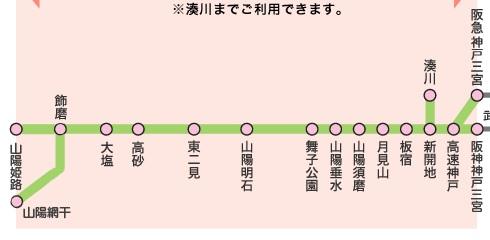 姫路・三宮1dayチケットフリーエリア