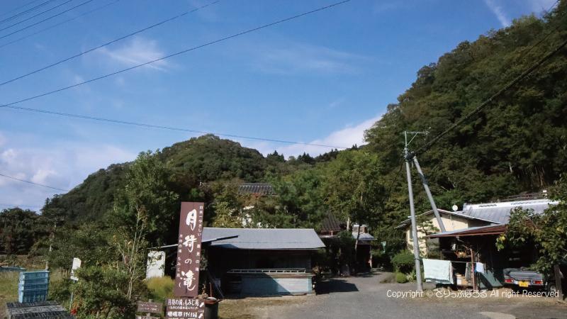 月待の滝バス停付近