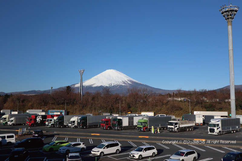 足柄SA屋上から富士山