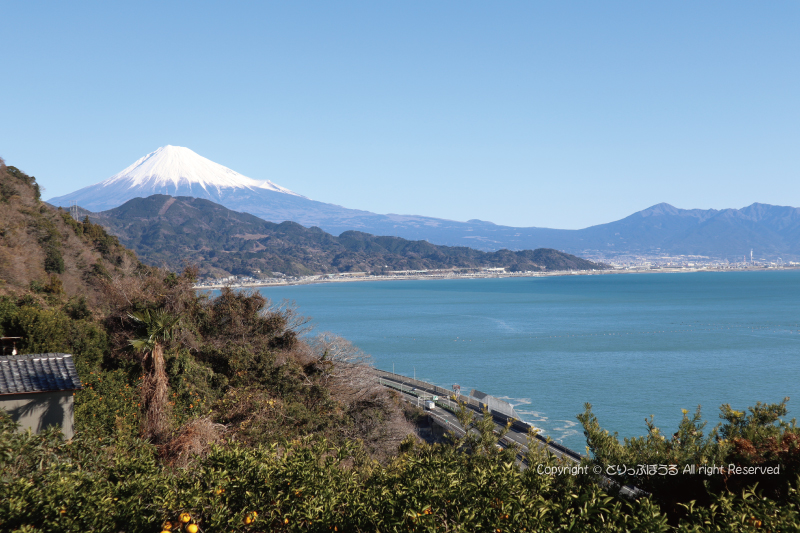 さった峠駐車場から富士山