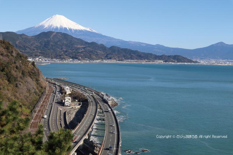 さった峠展望台から富士山