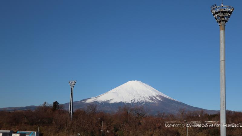 足柄サービスエリアから富士山