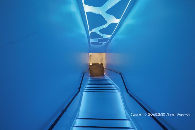 オホーツク流氷館階段