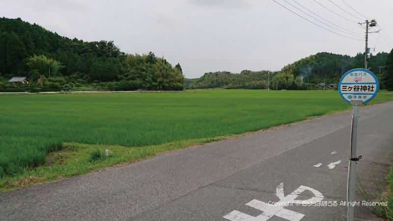 モバス三ケ谷神社バス停