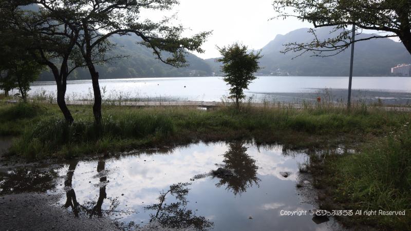 榛名公園から榛名湖