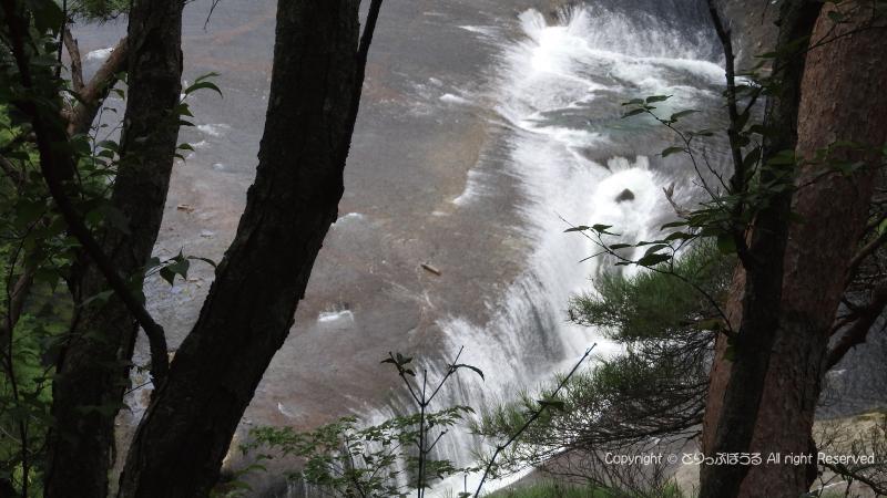 吹割の滝上から撮影