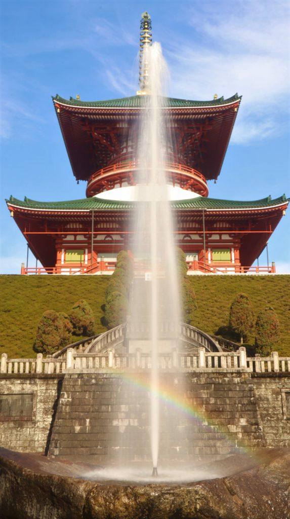成田山公園の平和大塔