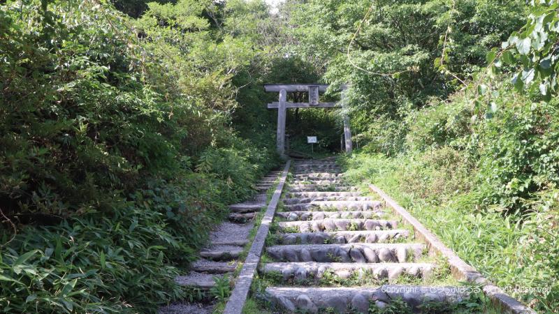 榛名富士大神へ石段