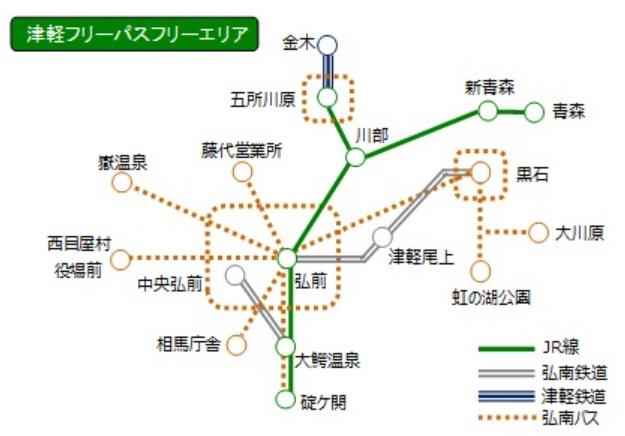 津軽フリーパスエリア2020