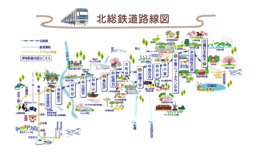 北総鉄道路線図