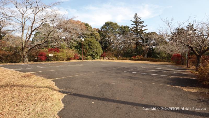北山公園の白鳥の湖駐車場