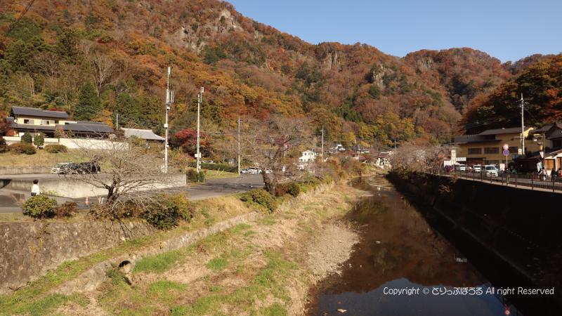 袋田の滝無料駐車場からの景色2