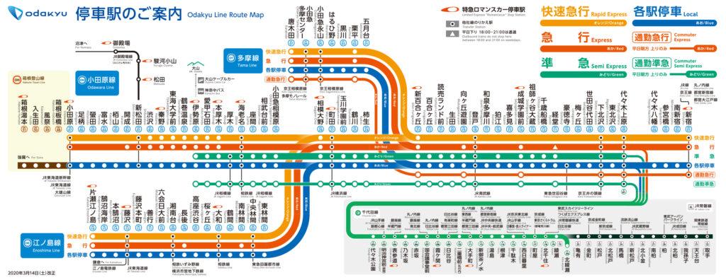 小田急線路線図